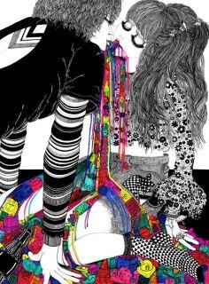 I LOVE ILLUSTRATION: Alexandra Lekias. Colorful fashion graphics