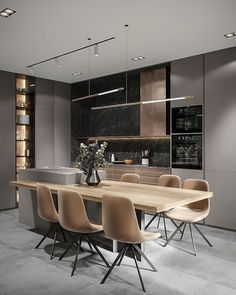 Any thoughts on this modern kitchen designed by Daniela Cartelle.- - Any thoughts on this modern kitchen designed by Daniela Cartelle. Kitchen Room Design, Luxury Kitchen Design, Kitchen Cabinet Colors, Dining Room Design, Home Decor Kitchen, Interior Design Kitchen, Kitchen Furniture, Kitchen Ideas, Kitchen Modern