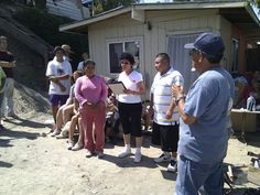 Closing ceremony with the new house recipients Mrs. Lopez and her son - #nonprofit #charity #corazon