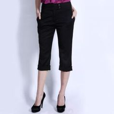 Casual Chic, Womens Capri Pants, Bermuda Shorts, Pajama Pants, My Style, How To Wear, Outfits, Black, Clothing