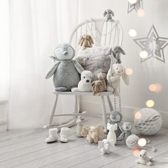 Small Silver Bashful Bunny - Toys The White Company