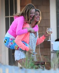 "Leslie Mann and Kate Upton appear on the set of ""The Other Woman"" in The Hamptons, New York on June 12, 2013"