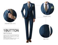 1BT Matte Blue - Suits - MEN Doublju