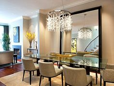 ... Modern Mirrored Dining Room Table ...