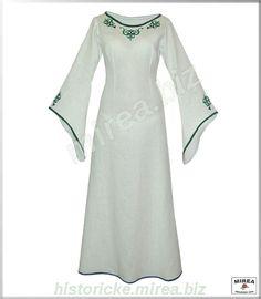 Dámske šaty ľanové vyšívané - (DS-03la-v)