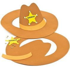 Cowboy Hat Kits (Pack of 2) Baker Ross http://www.amazon.com/dp/B00CEB6SJA/ref=cm_sw_r_pi_dp_WXuJtb1C59C02NY4