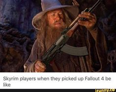 """""""What sorcery is this?"""" #skyrim #fallout4"""