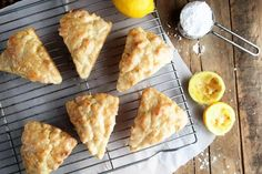 Lemon cream scones are a delightful way to treat Mom special on Mother's Day. Just look at that glaze!