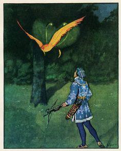 Illus. by Artuš Scheiner for Zlatovláska / Princess Goldie by Karel Jaromír Erben