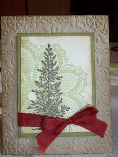 hello doily, lovely as a tree, vintage wallpaper embossing folder or lacy brocade embossing folder