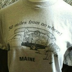 Vintage small-batch souvenir tee from New England Simple gray short sleeved tee shirt pays tribute to summers in Maine. They do call it Vacationland lol. Tops Tees - Short Sleeve