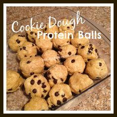 Cookie Dough Protein Balls, 21 day fix approved, clean eating, healthy snacks http://www.melissavbeck.com/2015/03/cookie-dough-protein-balls.html