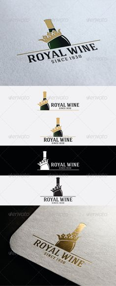 Royal Wine Logo — Vector EPS #brand #party • Download here → https://graphicriver.net/item/royal-wine-logo/8627695?ref=pxcr