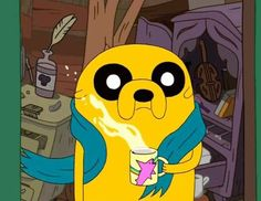 I'm not sure why, but I really like this screen shot of Jake the Dog.