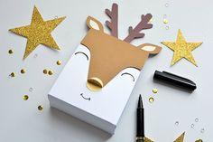 Christmas Special Christmas: Printed Deer Box by kerrycliffe Christmas Gift Wrapping, Christmas Deco, Christmas Time, Christmas Gifts, Xmas, Elegant Christmas, Diy Gifts, Handmade Gifts, Navidad Diy