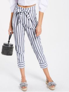 Back to school, back to saving! Free shipping worldwide! Belted High Waist Striped Capri Pants. Zaful, zaful.com, women jeans,denim jeans,ripped jeans, bootcut jeans, flare jeans, destroyed jeans, tapered jeans, ladies jeans, stretch jeans, high rise jeans, low rise jeans, high waisted jeans, straight leg jeans, capri jeans. @zaful Extra 10% OFF Code:ZF2017