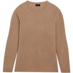 J.Crew Cashmere sweater (€235) via Polyvore featuring tops, sweaters, camel, crew neck top, cashmere crew neck sweater, cashmere sweater, relaxed fit tops and camel cashmere sweater