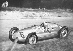 1938 Swiss Grand Prix, Auto Union D-Type Silver Arrow, Tazio Nuvolari