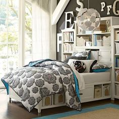 teen bedding and room