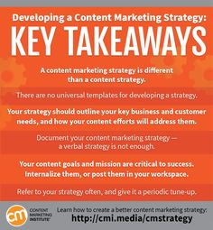 Here are some resources to help you get started when developing a content strategy.