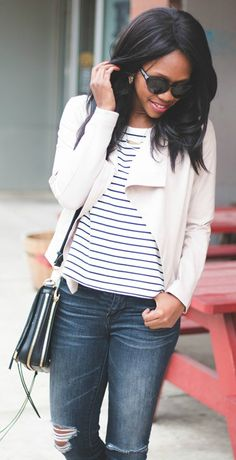 blush jacket -- the perfect spring layer!