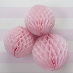 Pak met 3 honeycomb bollen Roze