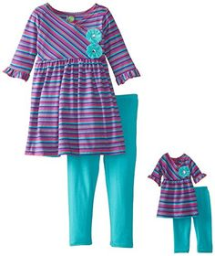 Dollie & Me Little Girls' Stripe Tunic Legging Set, Multi, 6 Dollie & Me http://www.amazon.com/dp/B00K6CW4YC/ref=cm_sw_r_pi_dp_zYLuub0AG77VJ