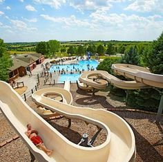 Nebraska's Eugene T. Mahoney State Park: One of the top Midwest campgrounds. We love the water park, trail rides, arts and crafts nights, and theater performances. More:  http://www.midwestliving.com/travel/around-the-region/24-best-midwest-campgrounds/?page=6