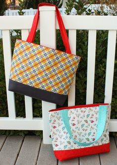Fast and easy pattern for a simple tote bag made with Pellon to make it extra sturdy. Great handmade gift idea.