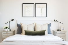 Tour the guest spaces of our SM Ranch House! Custom Headboard, Studio Mcgee, Couple Bedroom, Guest Bedrooms, Master Bedrooms, Guest Room, Dresser As Nightstand, Nightstands, Bedroom Ideas