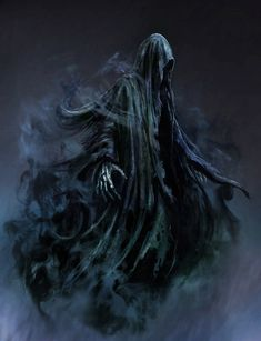 Dementors are soulless and evil creatures that suck happiness from humans. Find Harry Potter Dementor costume ideas for adults and kids. Dark Fantasy Art, Dark Art, Grim Reaper Art, Don't Fear The Reaper, Dark Creatures, Fantasy Creatures, Images Harry Potter, Bild Tattoos, Arte Obscura