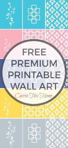 The BEST free source of wall art with 50+ free printable wall art files! 5 designs in 11 color options to choose from! Premium Free Printable Wall Art