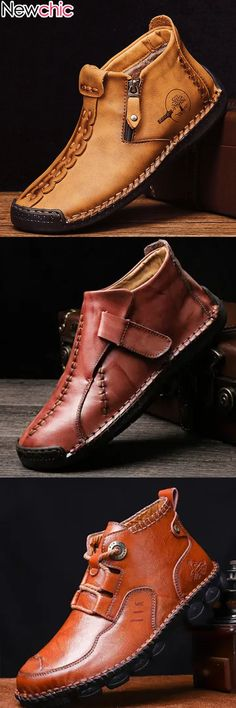 Men Leather Lace Up Ankle & Dress Outfits for Knit Shoes, Men's Shoes, Dress Shoes, Prom Heels, Wedding Heels, Black Ankle Boots, Black Shoes, Leather Loafers, Leather Boots
