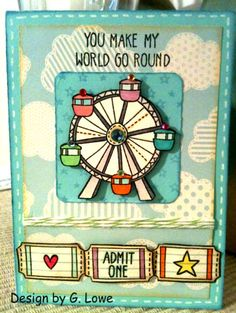 lawn+fawn+admit+one | Card I made using Lawn Fawn Admit One stamp set.