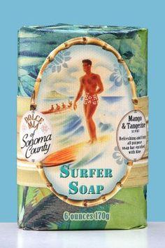 Surfer Boy Mango Tangerine Hawaiian Soap Bar  [SFB6SB]  $8.00
