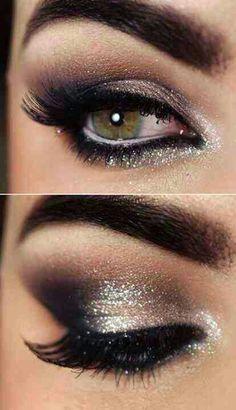 Black & Sliver Eye Makeup. Love it!! ★