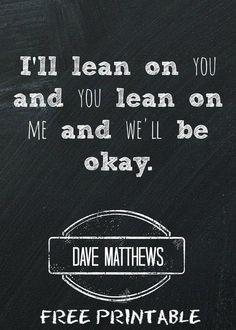 Free Dave Matthews Printable
