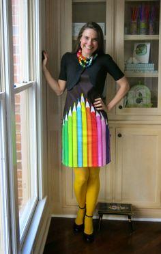 pencil dress for the art teacher