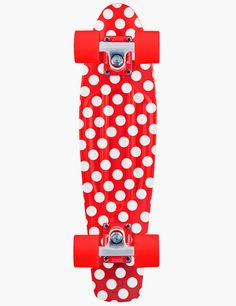 Penny Nickel Red Polkadot Graphic Skateboard