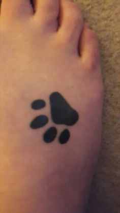 My Cat paw print tattoo, In memory of my cat Clove that passed away...