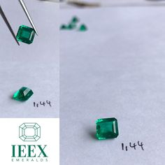 IEEX Emeralds - A beautifully cut Colombian 1.58 emerald cut displaying minor cedar oil exceptional  colour & clarity - for prices and video/info PLEASE contact directly via DM or email to info@ieex.com.co Cedar Oil, Colombian Emeralds, Emerald Cut, Clarity, Stud Earrings, Colour, Cedarwood Oil, Color, Columbian Emeralds