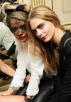 Rita Ora & Cara Delevingne at Mademoiselle C Screening After-Party, Paris.