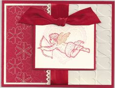 Valentine Love Like this layout, colors, and bow