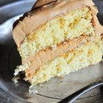 Butter Cake with Salted Caramel Buttercream Frosting Recipe