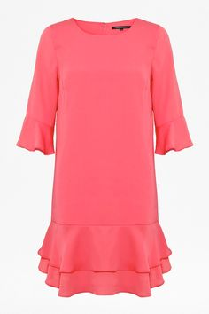 FRENCH CONNECTION | Amalie Drape Dress in party pink |  100% viscose | £71 (was £89)