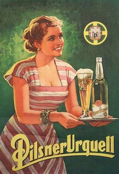 """- Board """"Art-Beer, Biere, Cerveza and Women-Vintage Adv"""". Poster Retro, Vintage Advertising Posters, Poster Ads, Retro Ads, Vintage Labels, Vintage Travel Posters, Vintage Advertisements, Vintage Ads, Pin Up"""
