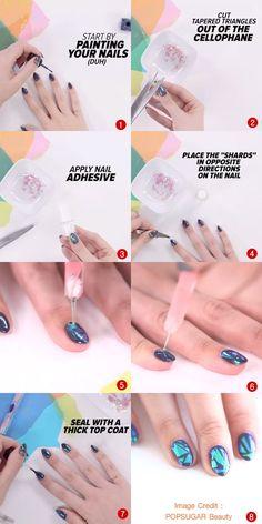 สาวไทยก็ทำได้! ไอเดียทำเล็บ Glass Nail Trend สวยฟริ้งแบบเดียวกับที่เกาหลีฮิตเป๊ะ! The Shard, Nail Trends, You Nailed It, Adhesive, How To Apply, Nails, Beauty, Finger Nails, Ongles