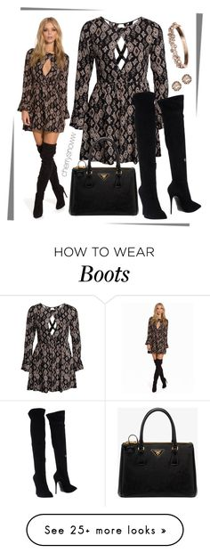 """Fall dress and over the knee boots"" by cherrysnoww on Polyvore featuring Kiss The Sky, Prada, Giuseppe Zanotti, Chopard and Givenchy"