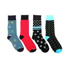 Dots on Stripes // 4 Pack socks