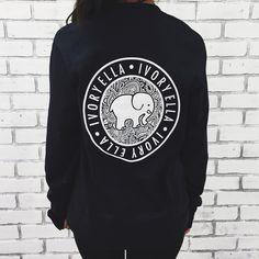ec62308ba 2016 Elephant print Ivory Ella tee shirt long sleeve f t shirts harajuku  tops cute loose style for spring summer